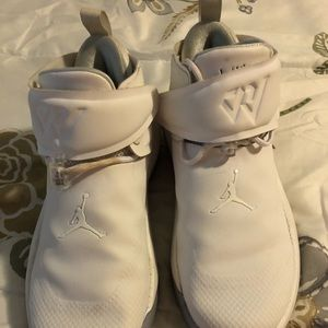 Youth Size 5Y used white Jordan's